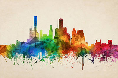 Houston Texas Skyline 05 Art Print