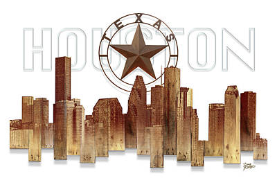 Painting - Houston Texas Skyline by Doug Kreuger