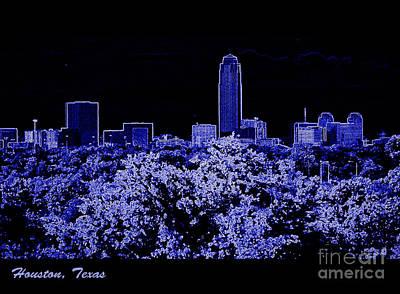 Houston Texas Skyline Art Print by Ella Kaye Dickey