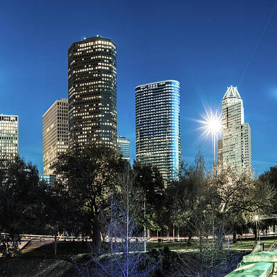 Photograph - Houston Texas Usa Skyline Color 1x1 by Gregory Ballos
