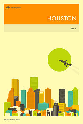 Houston Travel Poster Art Print