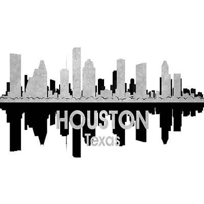 Patriotic Mixed Media - Houston Tx 4 Squared by Angelina Vick