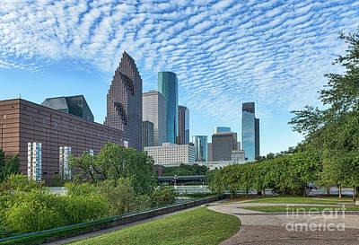 Houstons Skyline Sesquicentennial Park Art Print