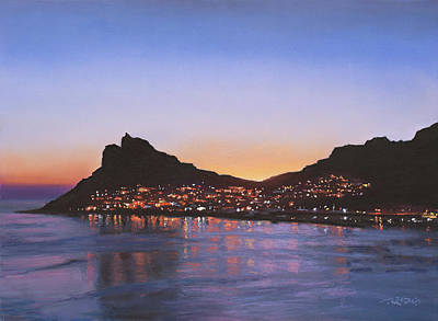 Painting - Hout Bay Lights by Christopher Reid