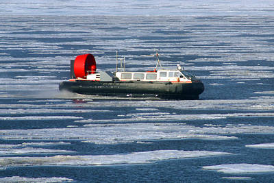 Photograph - Hovercraft On Frozen Artic Ocean by Anthony Jones