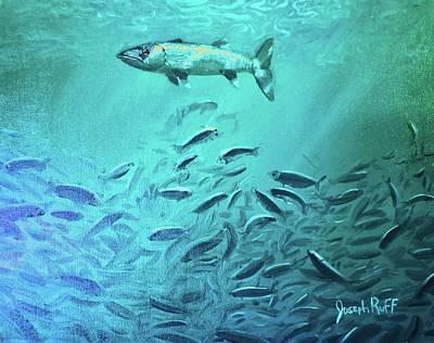 Hovering Baracuda Art Print by Joseph   Ruff