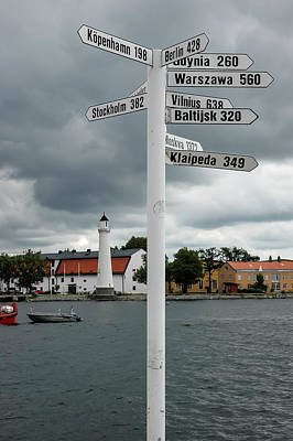 Photograph - How Far From Karlskrona Sweden To Elsewhere by Mary Lee Dereske