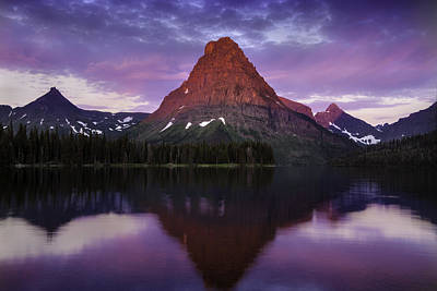 Photograph - How Glorious A Greeting The Sun Gives The Mountains - Glacier National Park by Expressive Landscapes Nature Photography