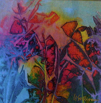 Art Print featuring the painting How Her Garden Grows by Mary Sullivan