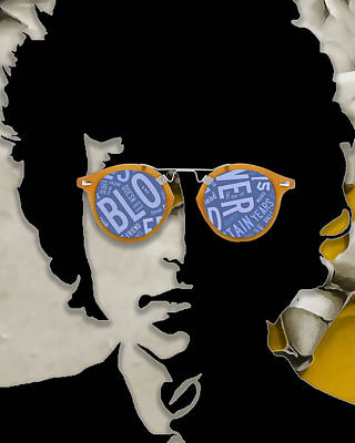 Mixed Media - How Many Roads Bob Dylan by Marvin Blaine
