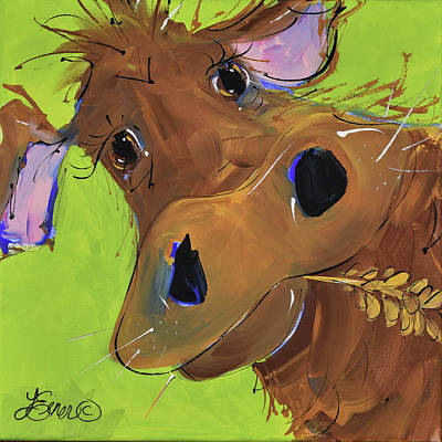 Painting - How Now Brown Cow by Terri Einer
