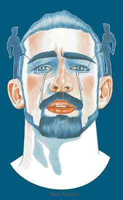 Queer Drawing - How Tears Are Made by Vilela Valentin