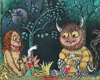 Wa Painting - How The Wild Things Do by Jacob Wayne Bryner