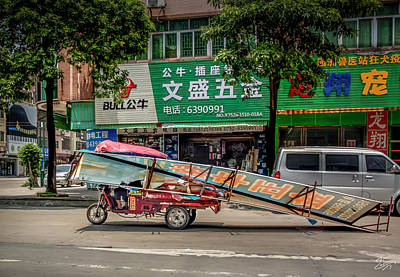 Photograph - How Things Get Around In Shilong China by Endre Balogh