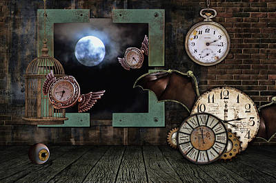 Digital Art - How Time Flies by Mihaela Pater