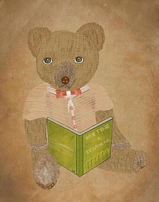 Childrens Books Digital Art - How To Be A Teddy Bear by Bri B