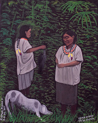 Painting - How To Live In The Jungle by Kayum Ma'ax Garcia