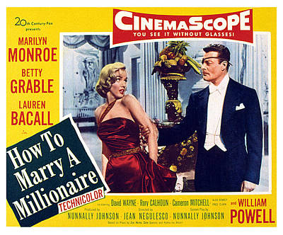 How To Marry A Millionaire, Marilyn Art Print