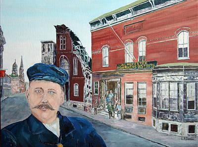 Painting - Howard Blackburn On Duncan St. by Laurence Dahlmer