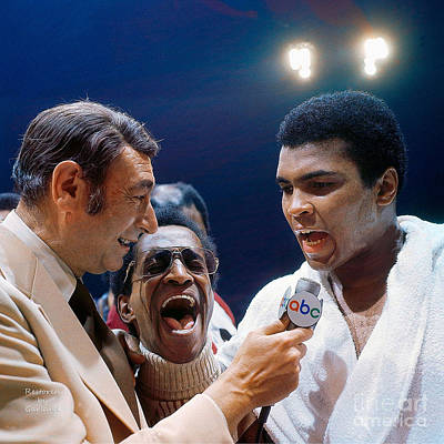 Champion Mixed Media - Howard Cosell And Ali.  by Garland Johnson