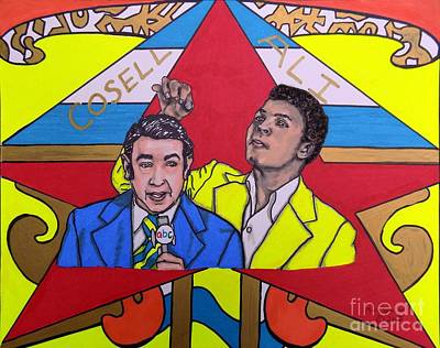 Howard Cosell And Muhammad Ali Art Print by Mary Sperling