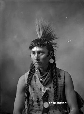 Howard King, Portrait Of Cree Indian Warrihoward King, Portrait Of Cree Indian Warrior Cor Ca. 1900s Art Print