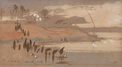 Drawing - Howatke by Edward Lear