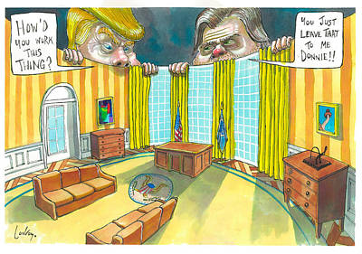 Whitehouse Painting - How'd You Work This Thing? by Pete Conroy