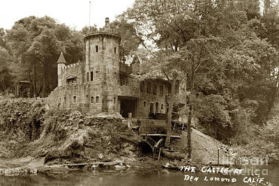 Photograph - Howden's Castle, Ben Lomond Calif. Circa 1950 by California Views Mr Pat Hathaway Archives