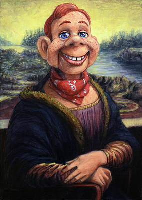 Print featuring the painting Howdy Doovinci by James W Johnson