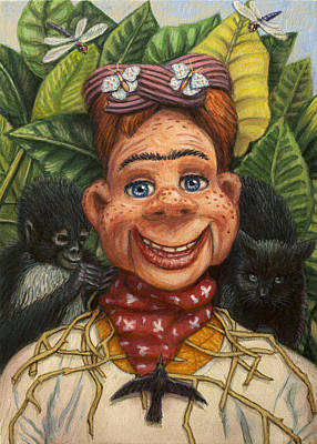 Painting - Howdy Frida Doody by James W Johnson
