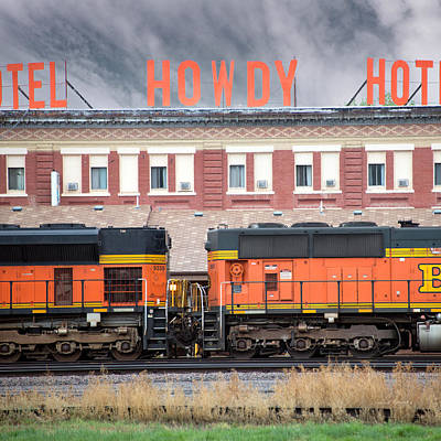Photograph - Howdy Hotel Square by Leland D Howard