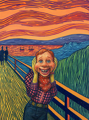Painting - Howdy's Happy Scream by James W Johnson