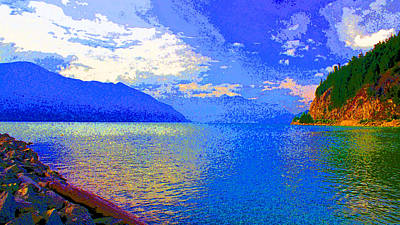 Howe Sound Near Vancouver Image Art Print by Paul Price
