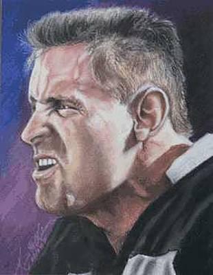 Oakland Raiders Painting - Howie Long by Kenneth Kelsoe