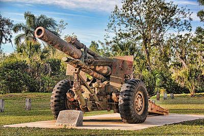Photograph - Howitzer Artillery by HH Photography of Florida