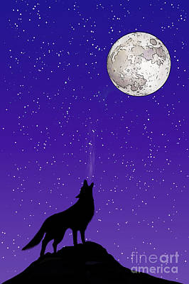 Royalty-Free and Rights-Managed Images - Howl at the moon by John Edwards