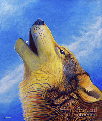 Coyote Painting - Howl by Brian  Commerford