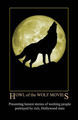 Digital Art - Howl Of The Wolf Movies by John Haldane