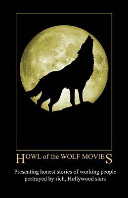 Digital Art - Howl Of The Wolf Movies by John Haldane