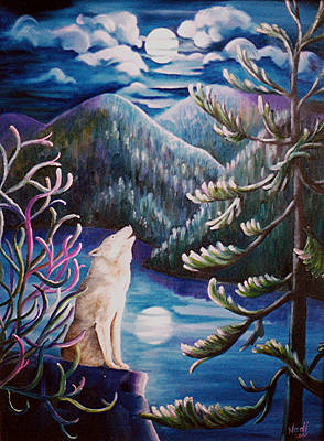 Painting - Howlin' The Blues by Renate Nadi Wesley