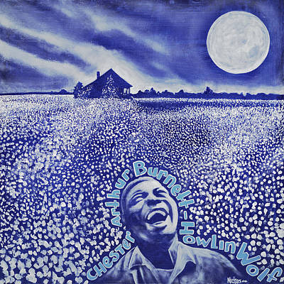 Moonshine Painting - Howlin Wolf - Chester Arthur Burnett by Nicklos Richards