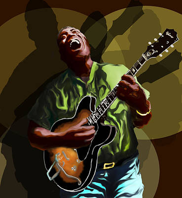 Digital Art - Howlin Wolf by David Fossaceca