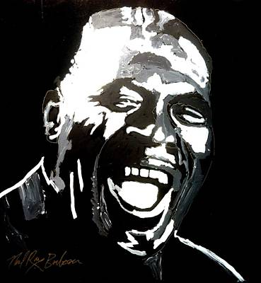 Painting - howlin Wolf by Neal Barbosa
