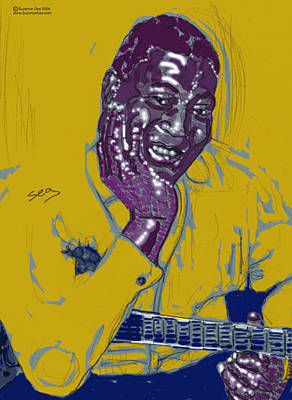 African-american Drawing - Howlin' Wolf  by Suzanne Gee