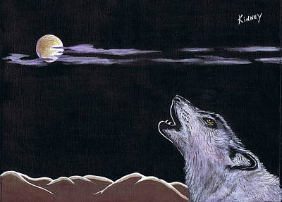 Howling At The Moon Art Print by Jay Kinney