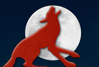 Photograph - Howling At The Moon by Paul Wear