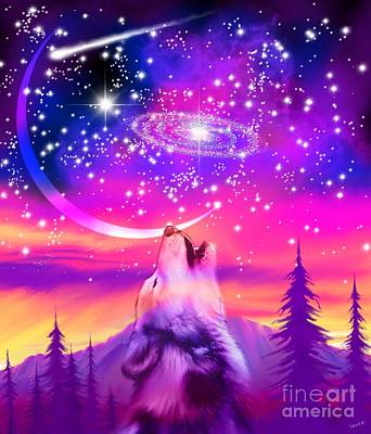 Digital Art - Howling At The Universe by Nick Gustafson