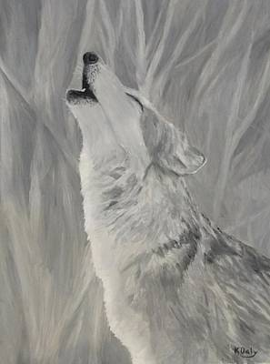 Painting - Howling Wolf by Kevin Daly