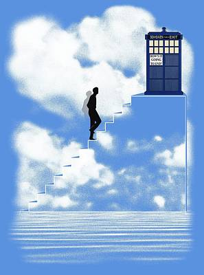 Tardis Digital Art - How's Going To End? by Filippo B